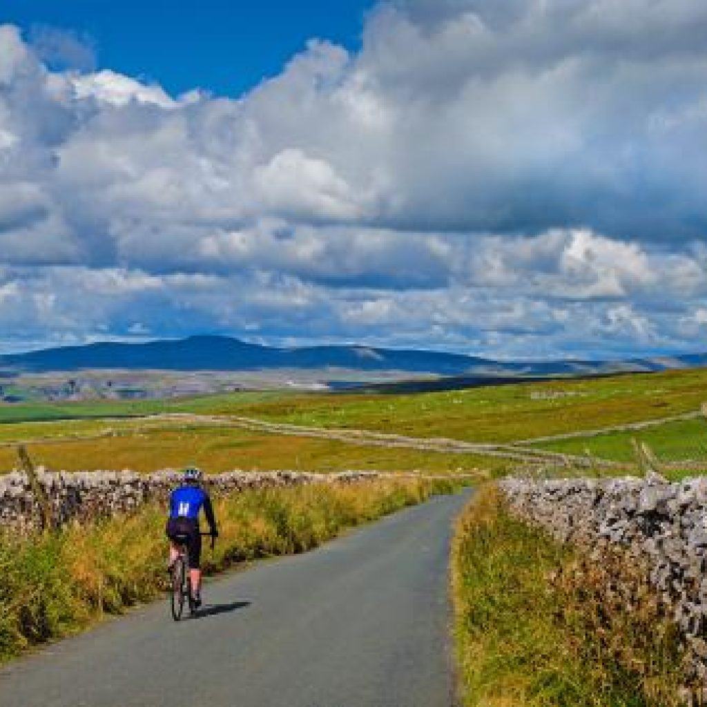 The road to Settle in the Yorkshire Dales National Park
