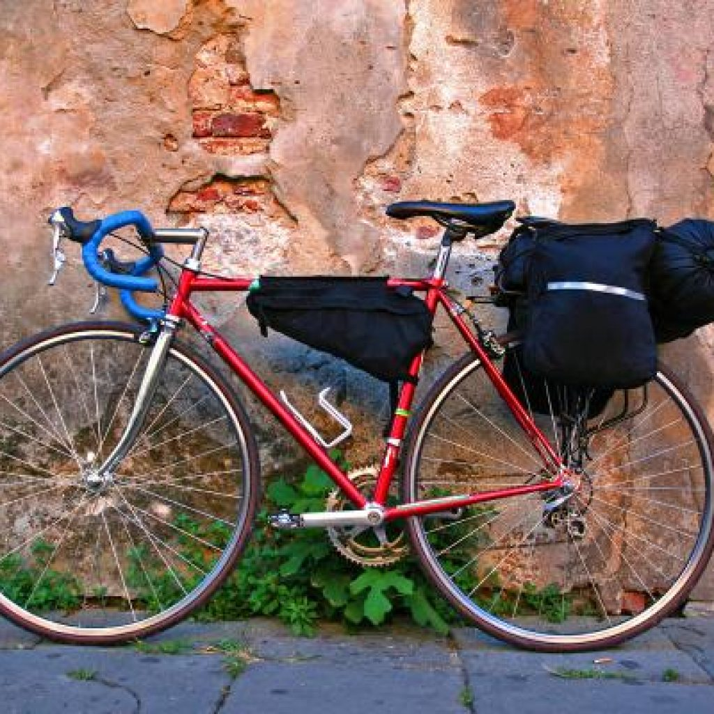 Use saddle bags to spread the load as you ride