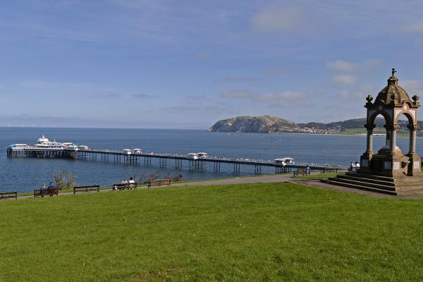 The pier in Llandudno, the Victorian seaside town