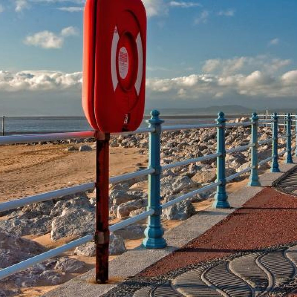 The promenade at Morecambe marks the start of the cycle route