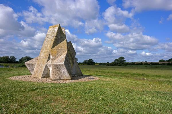 The Pyramid sculpture in Ferry Meadows Country Park