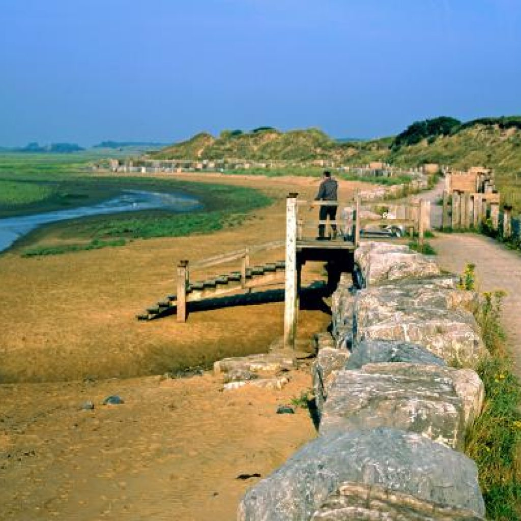 The path along the coast near Llanelli, a prime location for bird-spotting